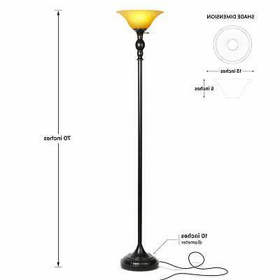 Evelyn LED Free Standing Torchiere Light - Dimmable Modern
