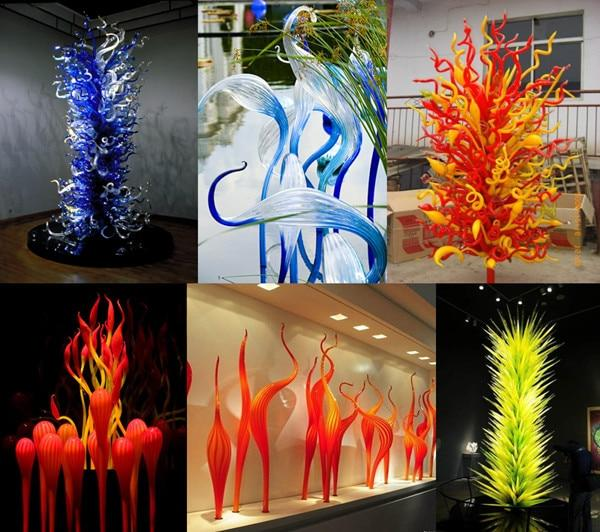 Hot Sale Hotel Hand Blown <font><b>Lamps</b></font> Orange Garden