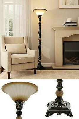 Floor Lamp 71.7 Dark Oil Rubbed Torchiere LED Shade