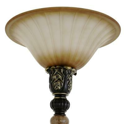 Floor Lamp in. Dark Torchiere LED Shade