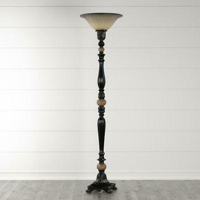 Floor Lamp 71.7 Dark Rubbed Bronze Torchiere LED Shade