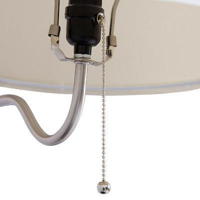 Floor Swing Lamp Built In End Table w/ Shade 2 USB Ports Living
