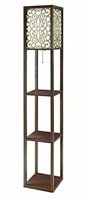 Coaster Home Furnishings Floor Lamp with 3 Shelves and Flora