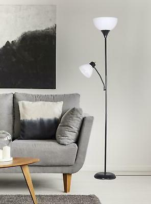 floor lamp with additional adjustable reading light