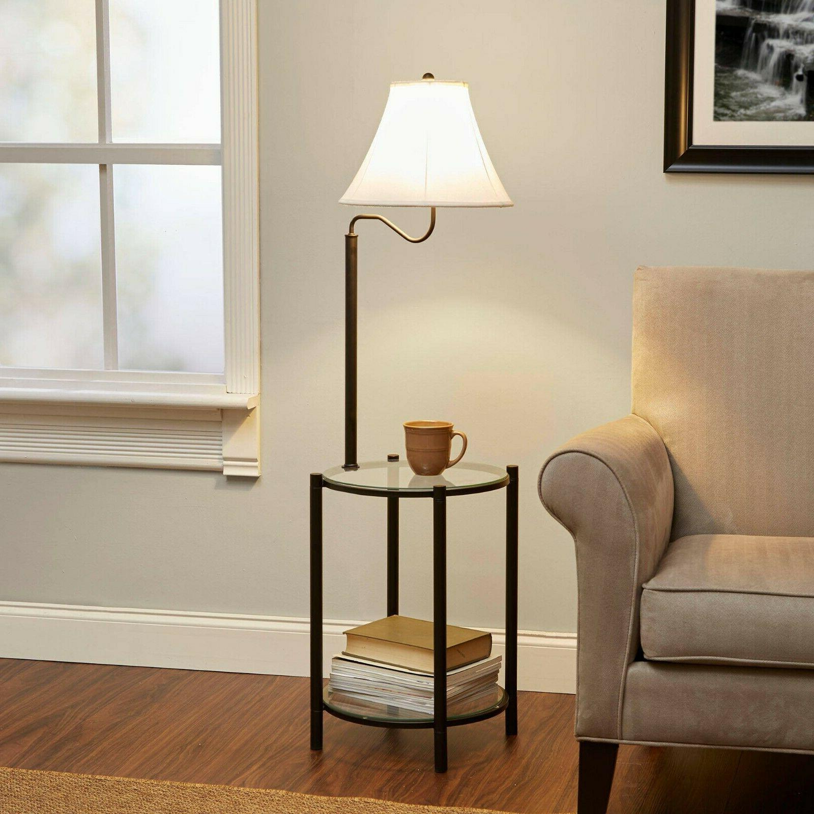 Floor Lamps for Living Room with Shelves Reading Bedroom End