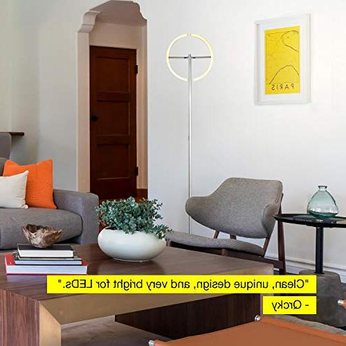 Brightech Split Modern Lamp - Standing Lamp Rooms Bright, Reading your Bedroom -