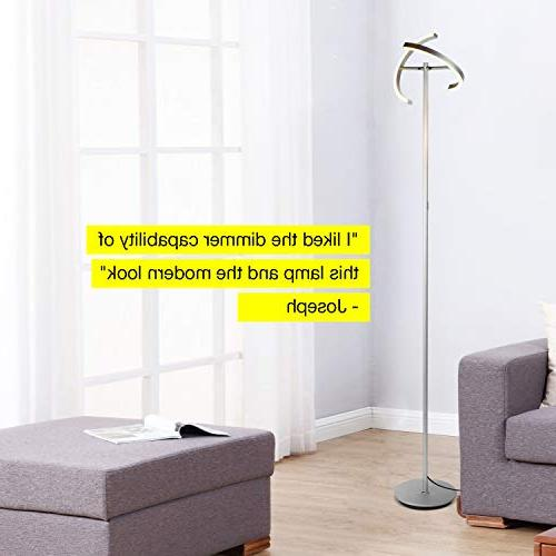 Brightech Halo Modern LED Torchiere Lamp - Standing Rooms - Bright, Dimmable Light Reading Books Bedroom