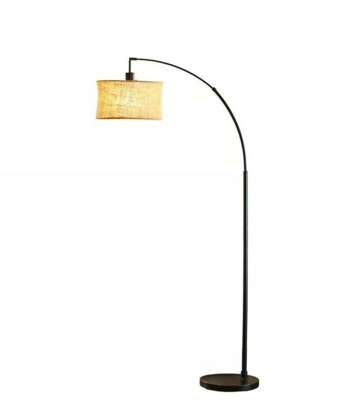 harrison antique bronze arc lamp