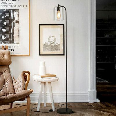 Industrial Floor Glass Modern Tall Lamp for Office