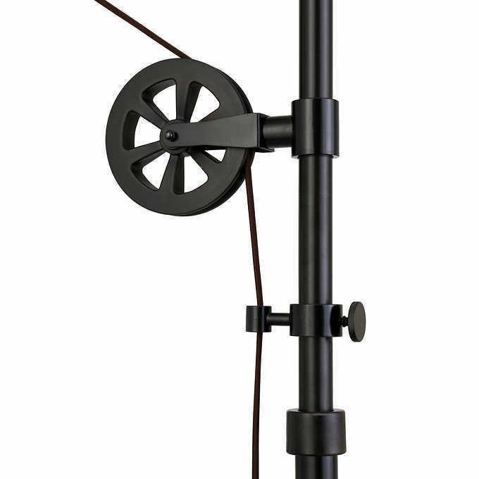 Industrial Pulley Lamp Bronze Arm and