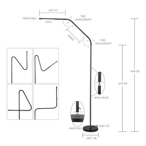 Modern Floor Reading Light Dimmable Remote Control