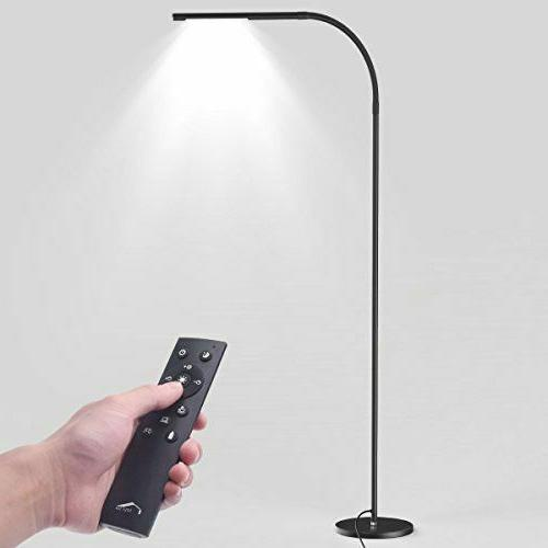 led floor lamp black 360 goose neck