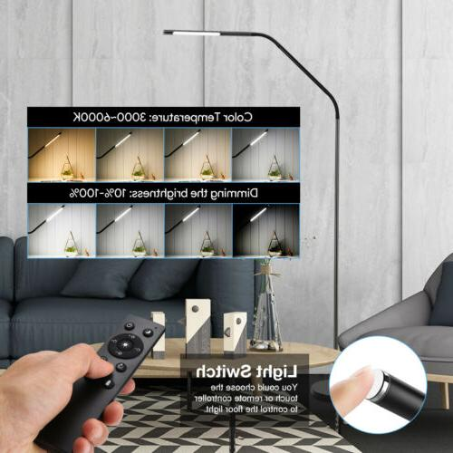 LE Dimmable Floor Lamp Adjustable Gooseneck Reading Light To