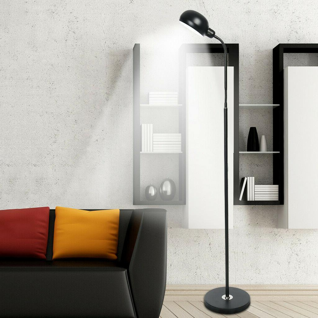 led reading standing floor lamp adjustable gooseneck