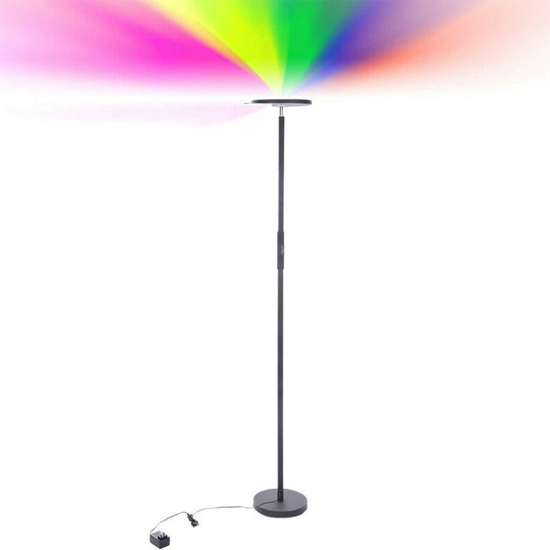 led floor lamp dimmable color changing remote