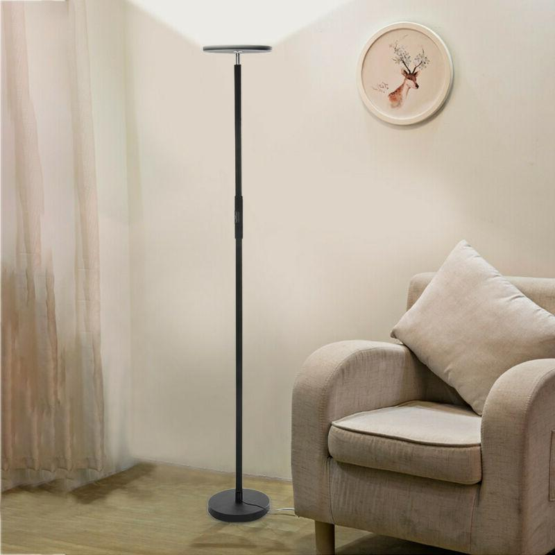 Led Floor Pole Room Torch Light Energy Dimmable