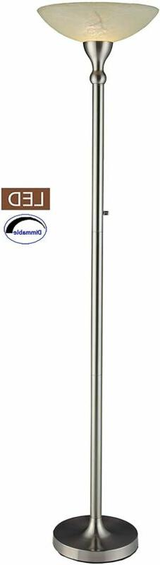 Artiva USA LED21024FSN LED Torchiere Floor Lamp with Satin N