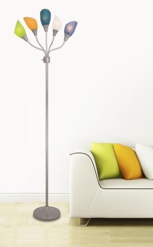 LIGHTACCENTS Light grey lamp multicolor shades