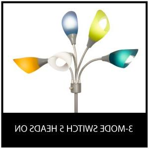LIGHTACCENTS Light grey floor lamp multicolor acrylic shades