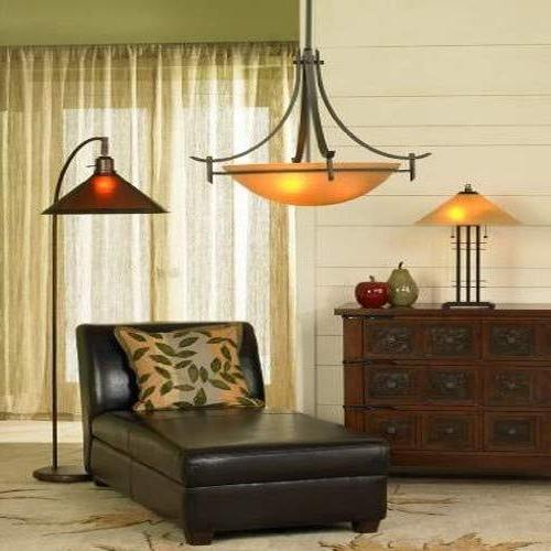 Cal Floor Lamp with Shades, x Rust Finish