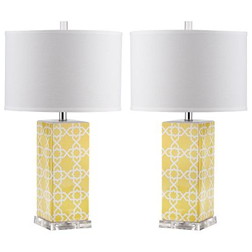 lighting collection quatrefoil yellow table