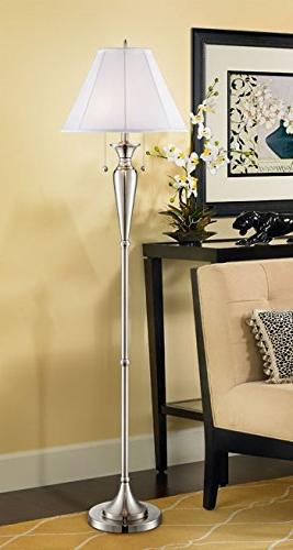 Lucent Brushed Nickel Lamp by Regency