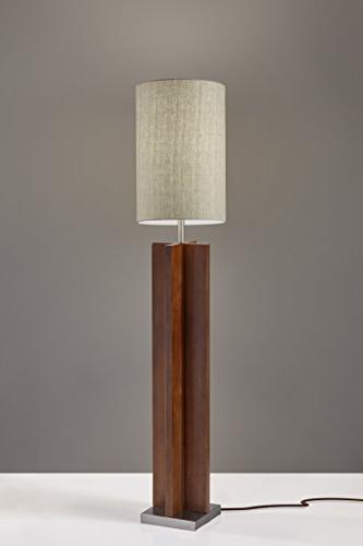 Adesso Lamp, Birch with Steel