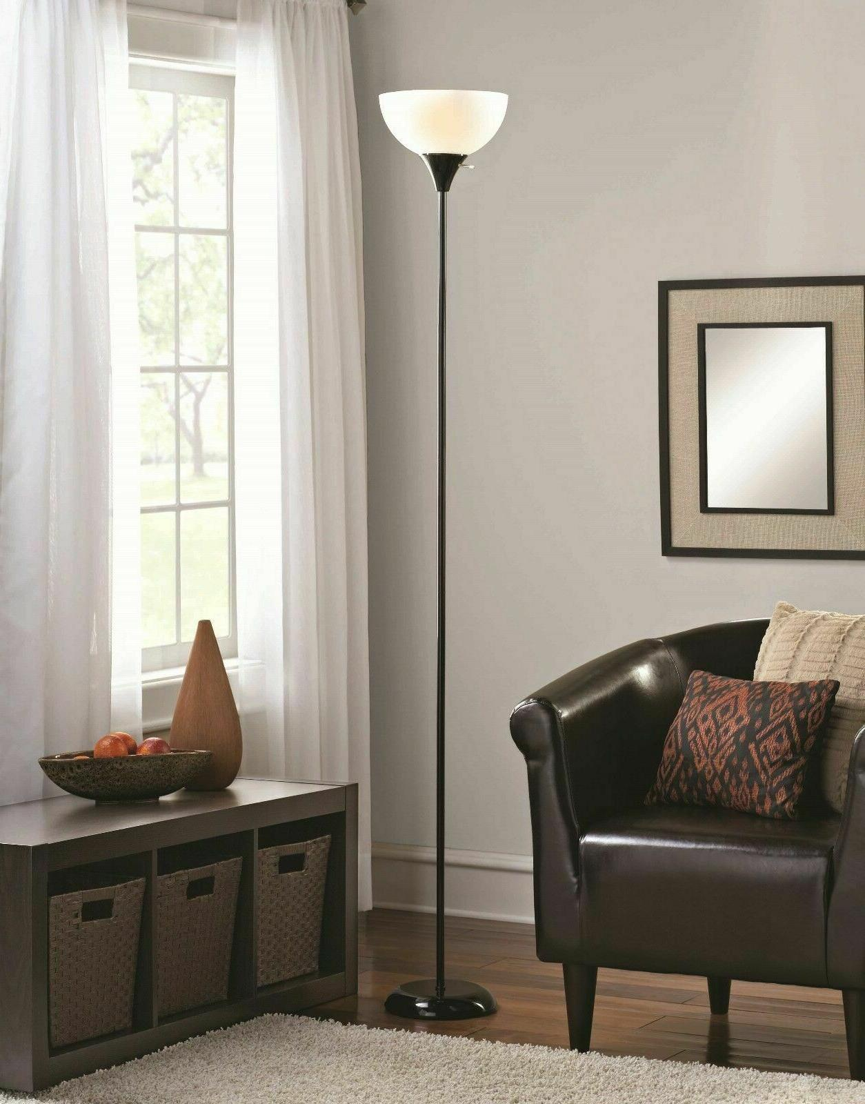 "Metal Floor Lamp 71"" Living Room Light Stand Torchiere Home"