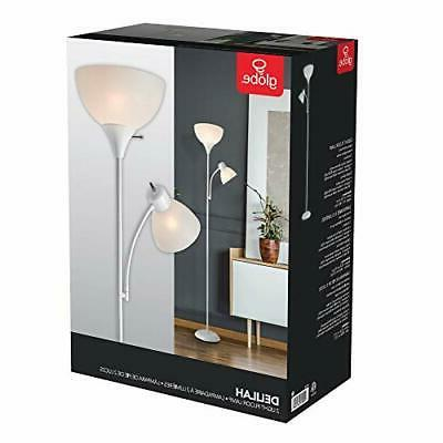 Metal Floor Lamp Living Reading Home Decor Torchiere