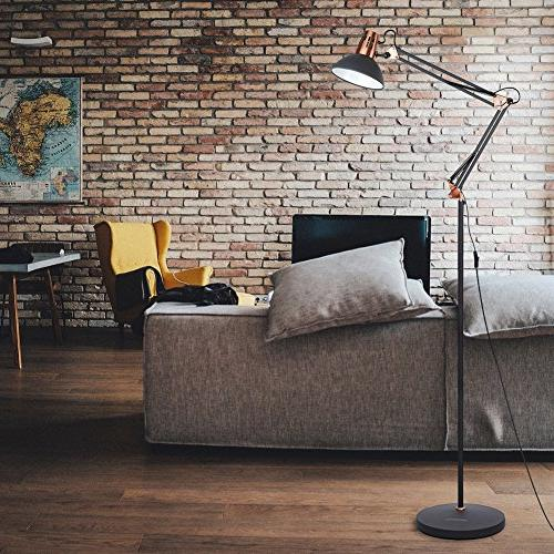LEPOWER Floor Architect Swing Lamp with Based, Light Living Room, Bedroom, Study Office