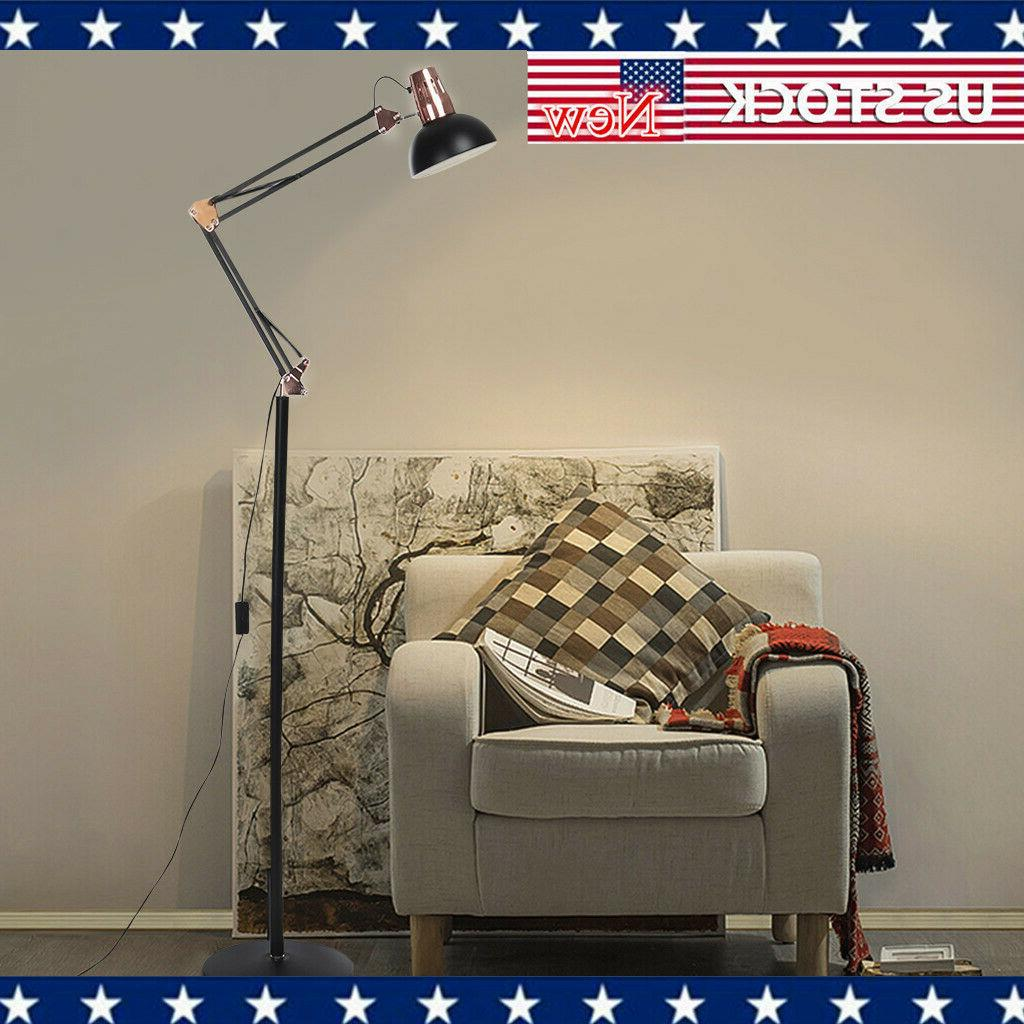 metal floor lamp architect swing arm standing