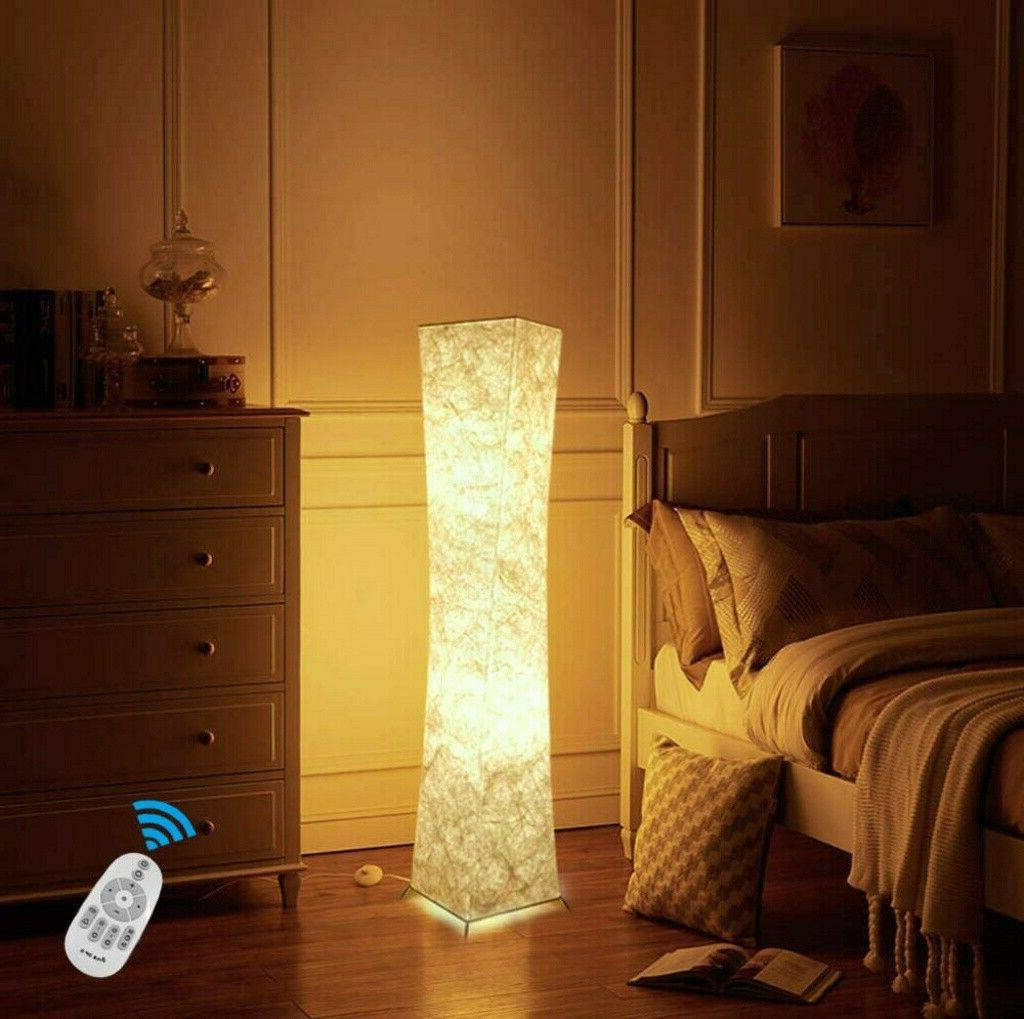 Modern Floor Changing Light with Fabric