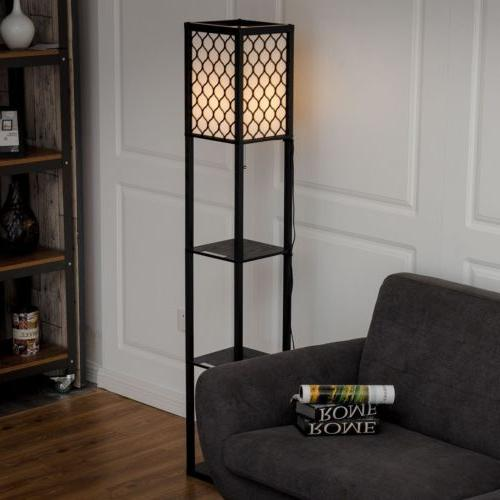 Modern Wood Floor Lamp Lighting Home Living Room Bedroom wit