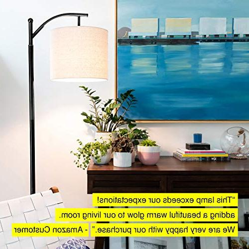 Brightech Montage Bedroom Floor Lamp - Standing Industrial Arc Light Hanging Shade - Tall Office