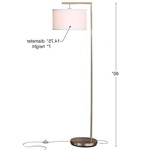 Brightech Modern Floor Room Pole with Drum - Tall Downlight Bedrooms, – with -