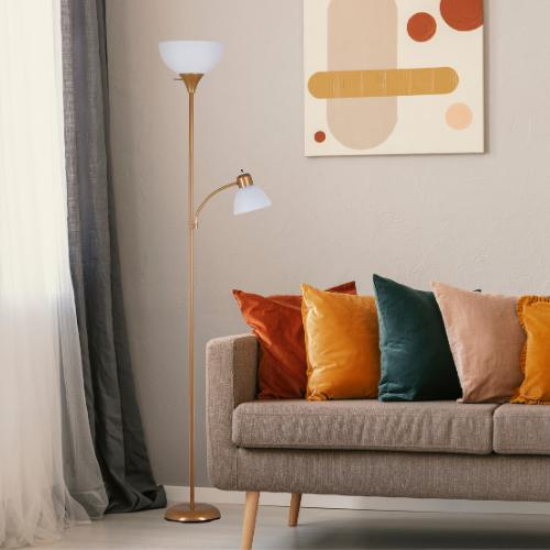 """New Lamp with 72"""" Gold"""
