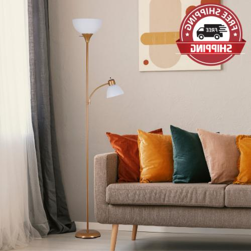 new metal floor lamp with reading light