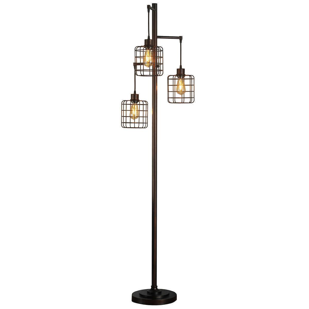 Piper Tall Rubbed Bronze Floor Lamp