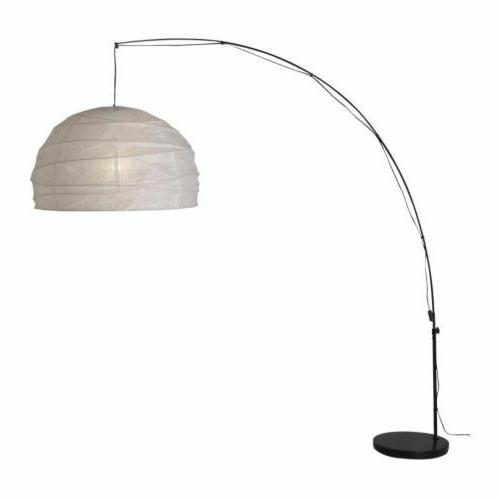 Ikea Regolit Floor Lamp Arc White Black New