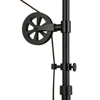 Simplistic Shade Bronze Finish Pulley Floor