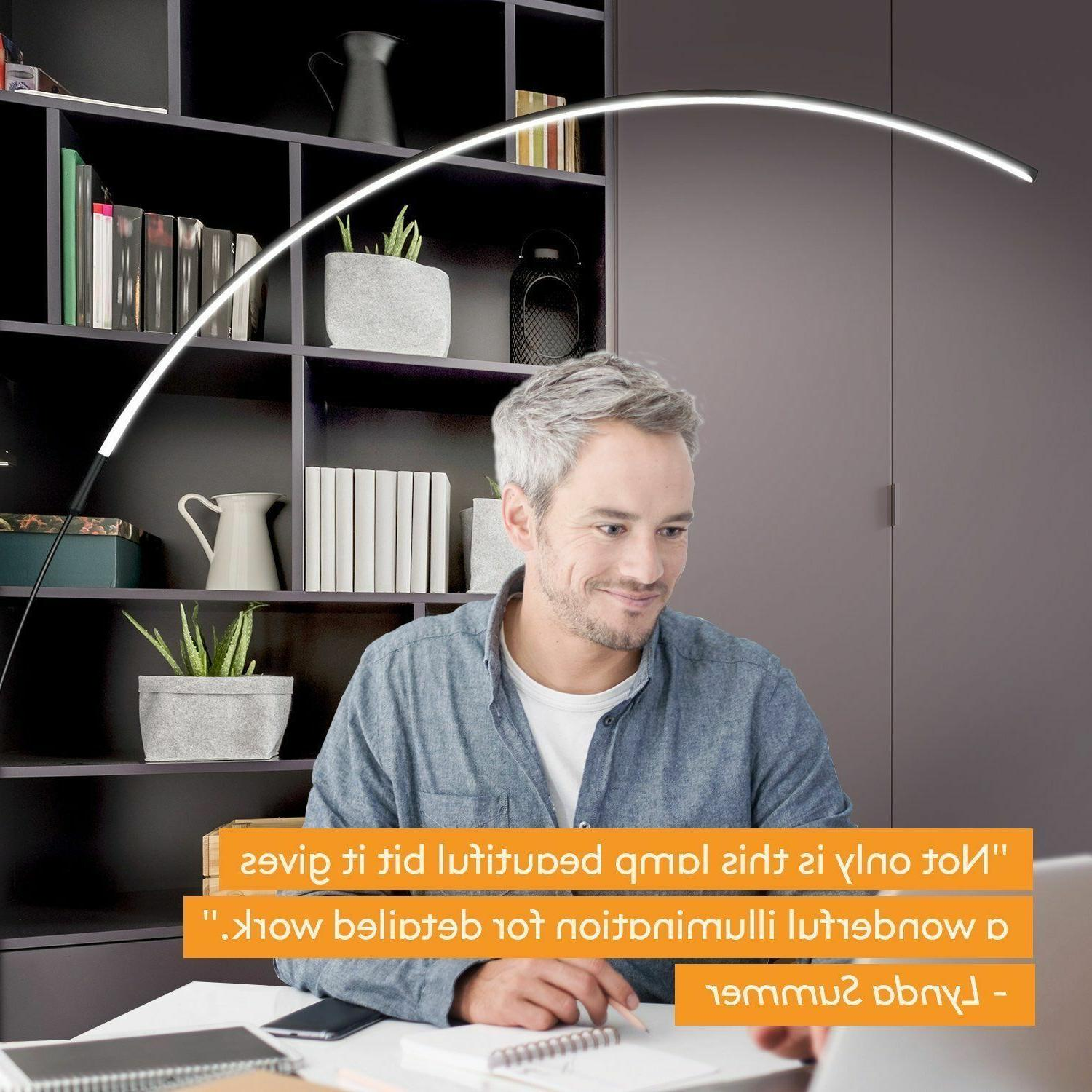 Brightech Sparq Floor Lamp-Curved Contemporary Lighting