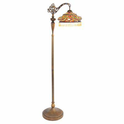 River of Goods Stained Glass Parisian Side Arm Floor Lamp