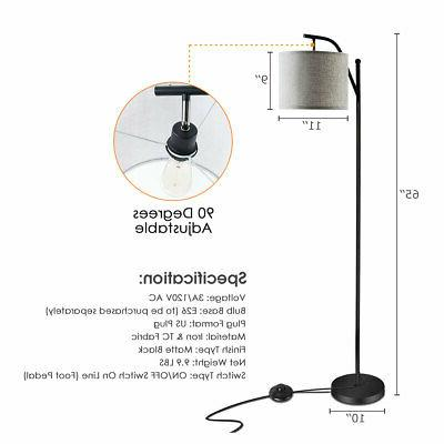 Standing Arc Light Floor Lamp Shade Office