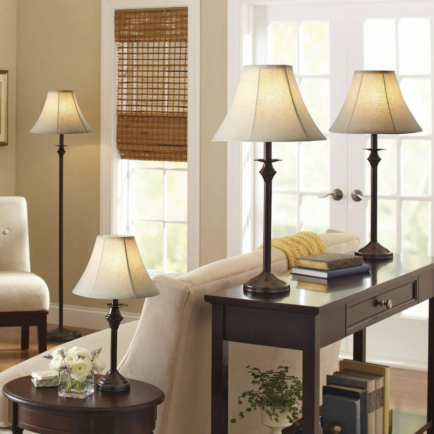 Table Floor Accent Classic Lamp Set Of 4 Home Decor Bedroom