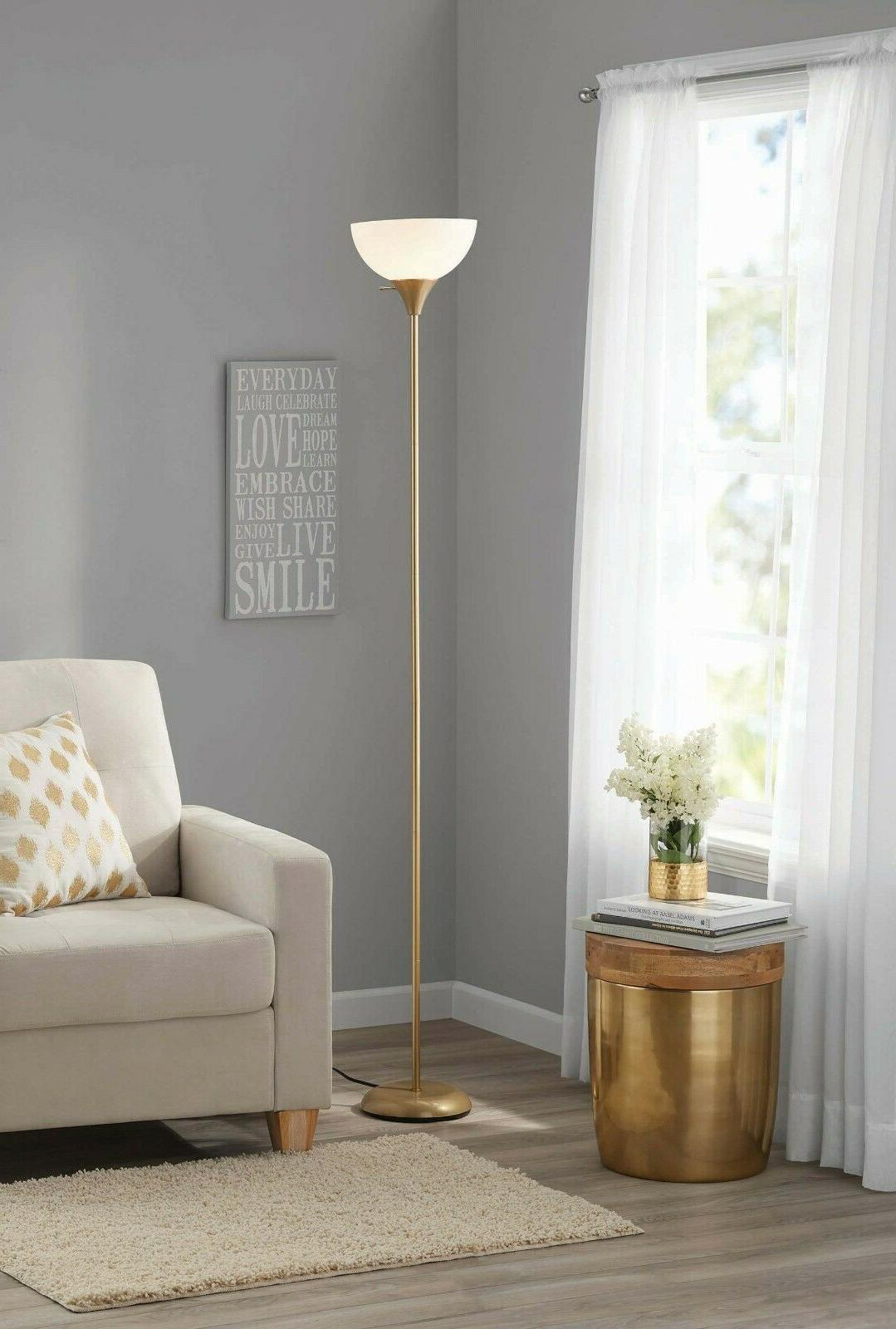 Tall Lamp Uplight For Living Grey Gold