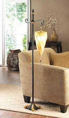 tan brown spiral triangle shade hanging moroccan