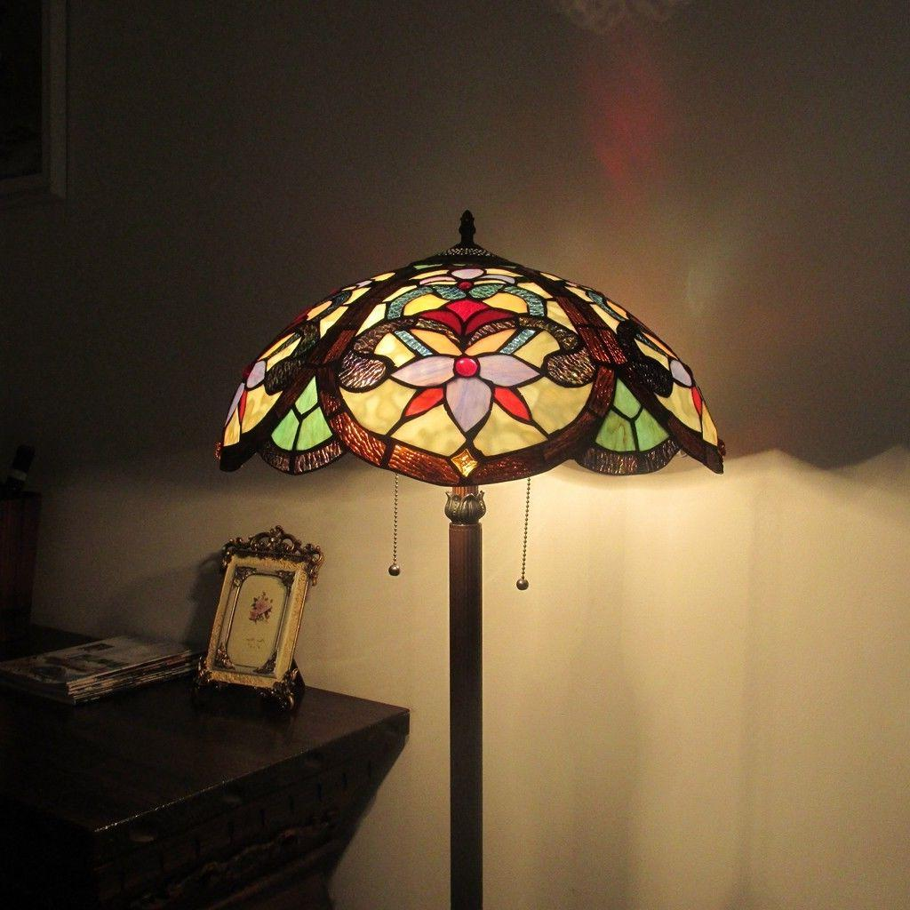 Tiffany Lamp Vintage Light Look Stained Glass
