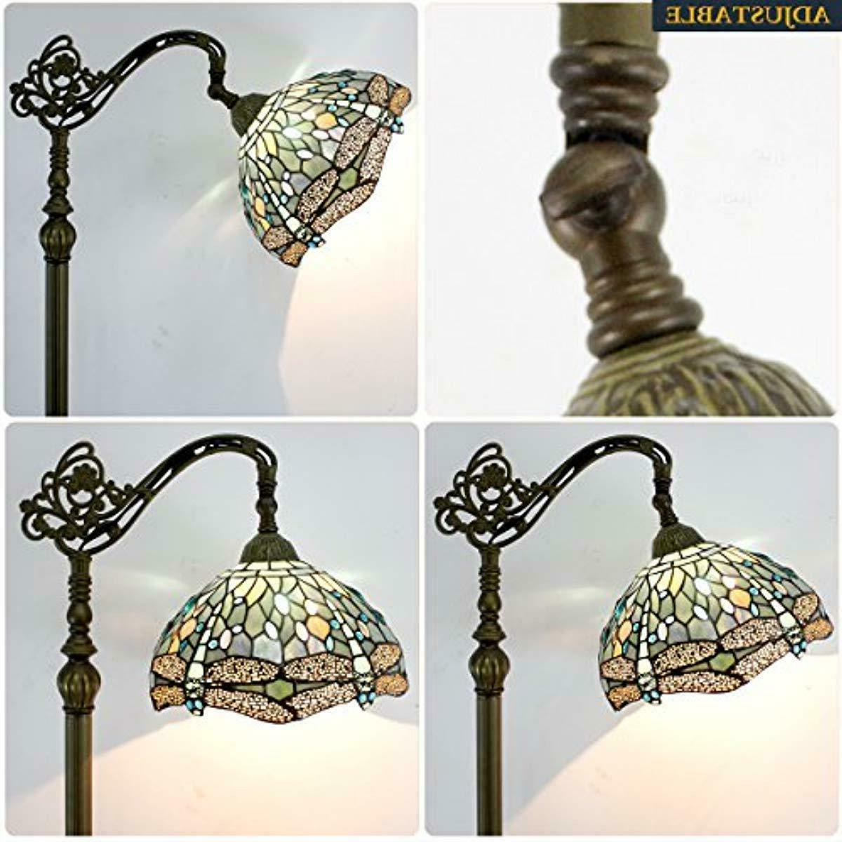 Tiffany Style Dragonfly Victorian Vibrant Green Stained