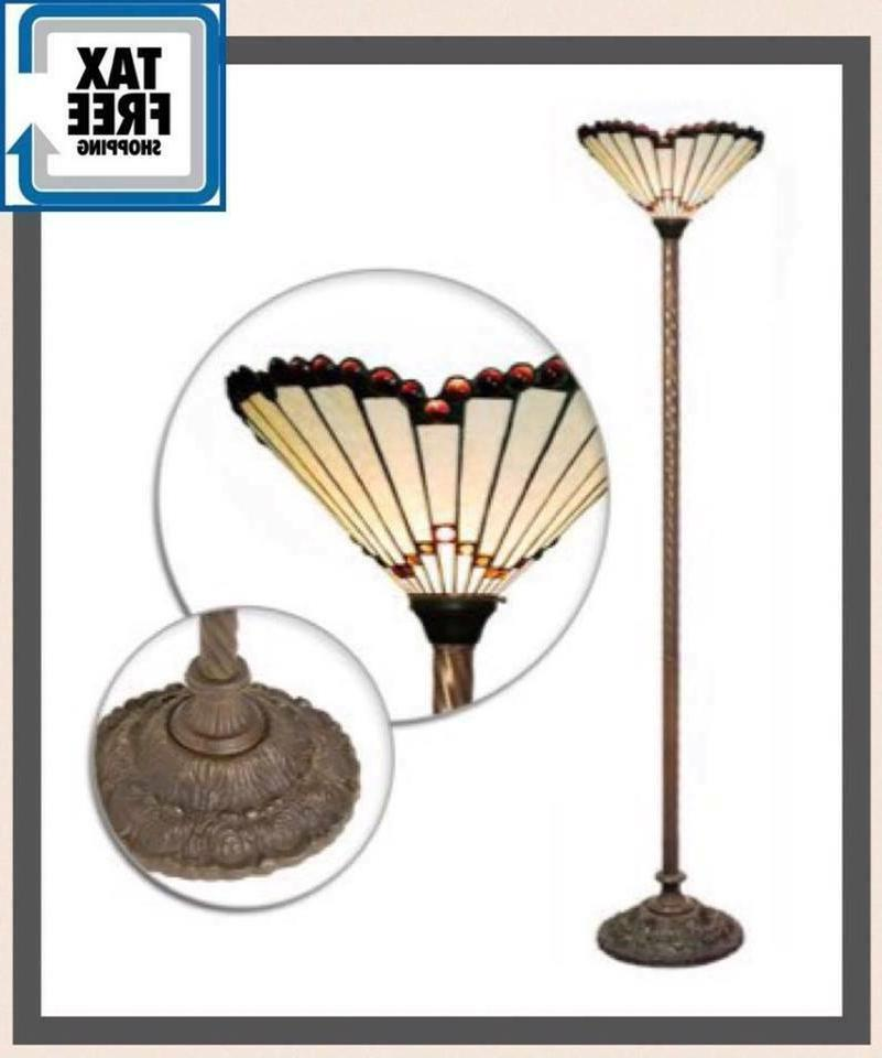 tiffany style floor lamp lighing light glass