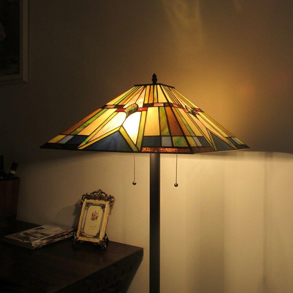 Tiffany Lamp Mission Stained Standing